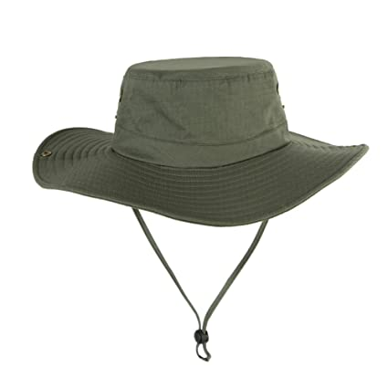 12091f7f93f KABAKE Fishing Bucket Sun Boonie Hat Wide Brimmed Outdoor Summer UV  Protection Cap with Side Snap