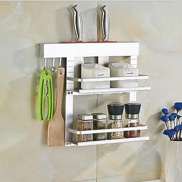 Amazon.de: Regale Küche Racks Wandhalterung Aluminium Messer Rack ...