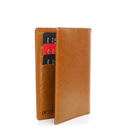 af79c8461165 OPTEXX® RFID Passport Wallet Mika Cognac Made of Vegi Leather TÜV ...