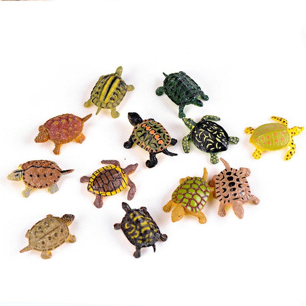 12 Pcs Turtle Tortoise Fairy Garden Kits Figurines for Miniatures Ornaments Fairies Gardens House Terrarium Kit Dollhouse Supplies DIY Outdoor Decorations Boat Ship Beach Chair Seascape