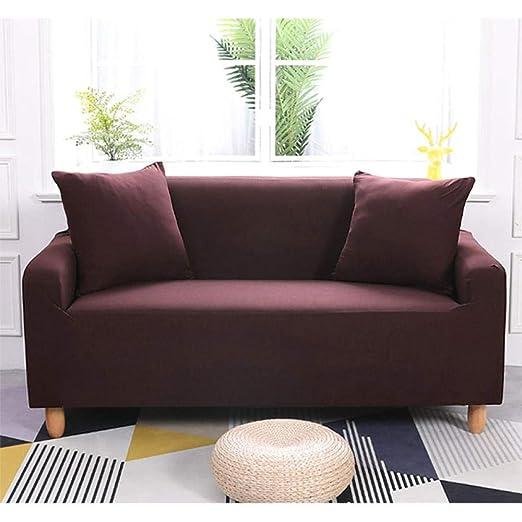 DJHYT Fundas De Sofas 3 Y 2 Plazas Color Sólido Spandex ...