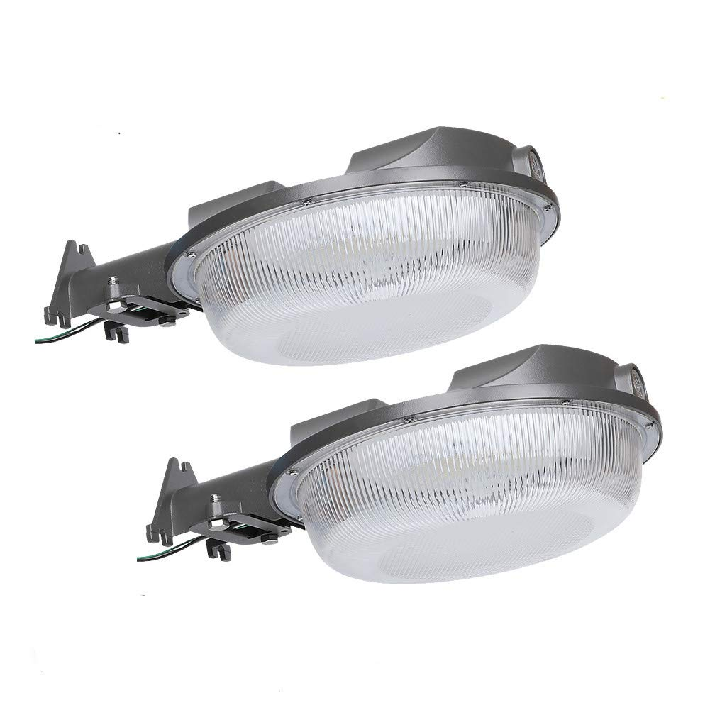 LED Outdoor Barn Light, DLC & ETL-Listed Light(Photocell Included) Wet Location Available Outdoor Wall Mount Overnight Security Light Farm/Garage/Sidewalk/Perimeter Lighting (58W 2 Pack)
