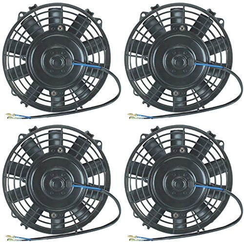 American Volt 12V Electric Radiator Cooling Fan Reversible High Performance Thermo Cooler Best CFM (7