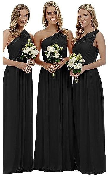 Amazon.com: liangjinsmkj Vestido largo asimétrico de dama de ...