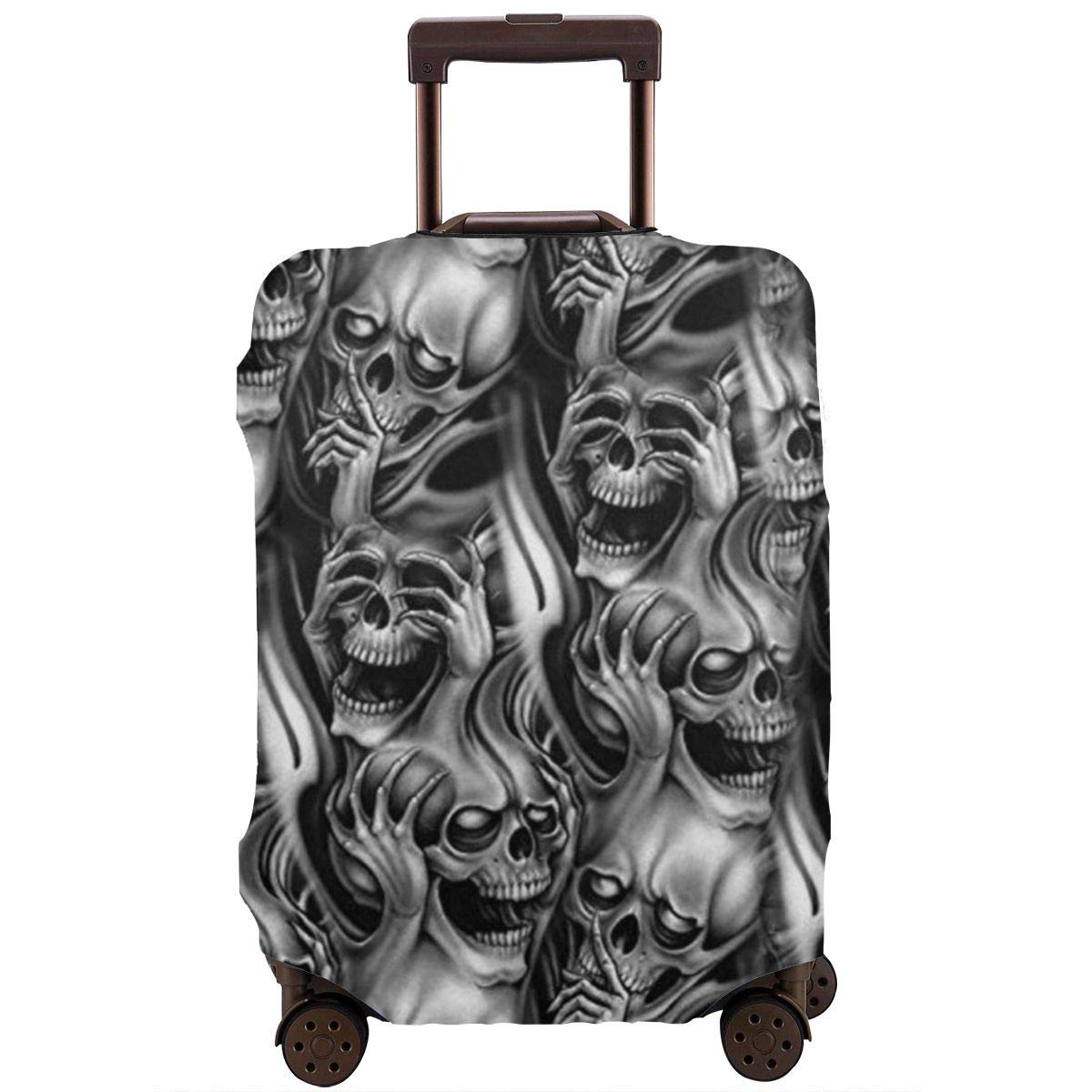 Travel Suitcase Protector Zipper Suit Case Luggage Cover Washable 3D Printing Baggage Covers Sugar Skulls Day Of The Dead Fit 18 To 32 Inch