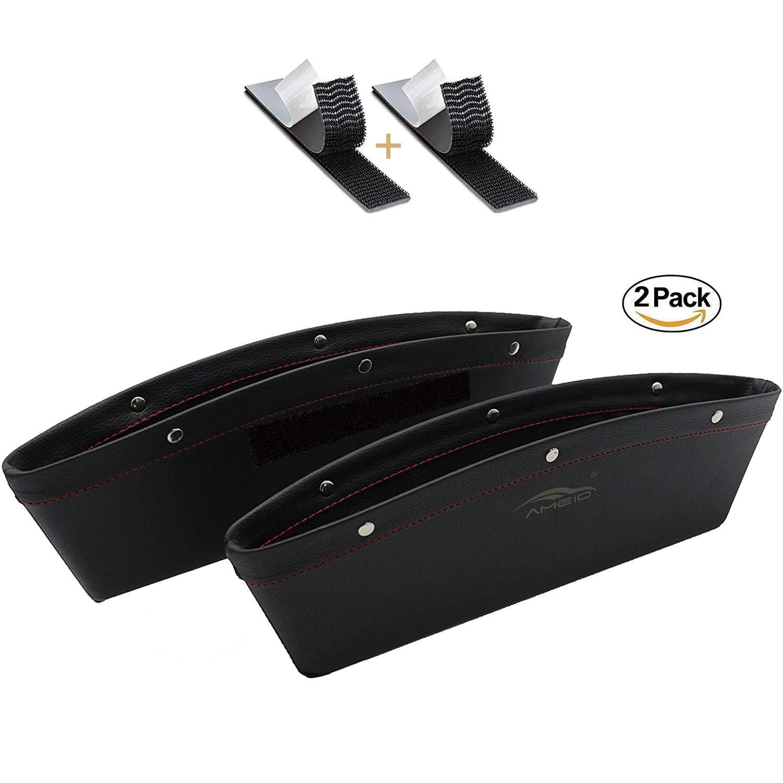 AMEIQ Car Vent Storage Organizer, Best Phone Holder Glasses Holder Pen Holder Coin Holder Key Holder, Hanging Leather Box Contain VB1001