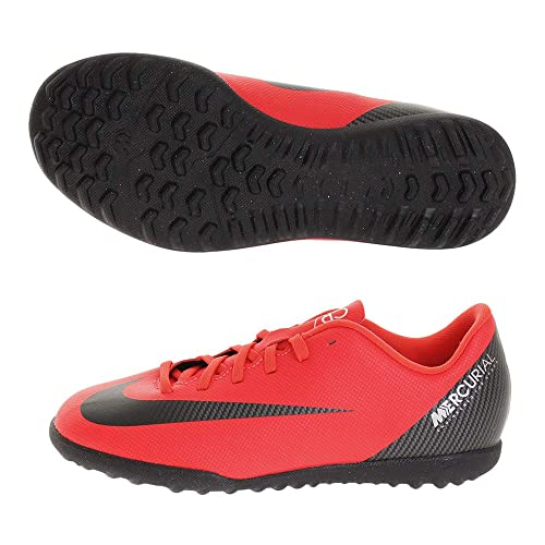 best sneakers a1ad8 3d796 Nike Junior CR7 Mercurial Vapor XII Club TF Football Boot- Bright Crimson -  UK 2, BRIGHT CRIMSON BLACK-CHROME  Amazon.co.uk  Shoes   Bags