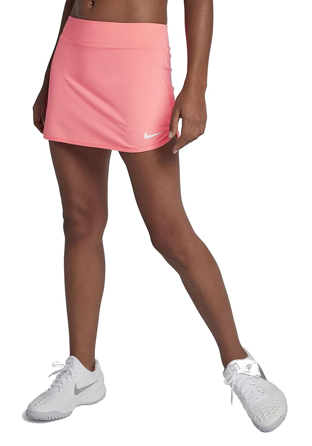 NIKE Court Pure Women's Tennis Skirt (Small, Lava Glow/White) 728777-676