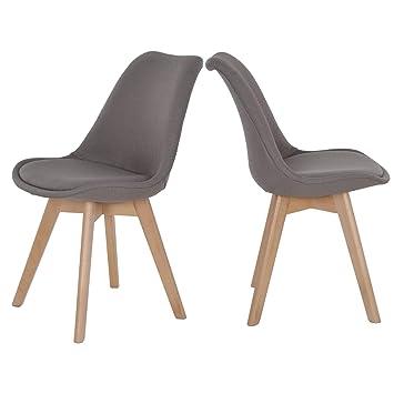 colourliving Lot de 2 chaises de Salle à Manger avec Assise ...
