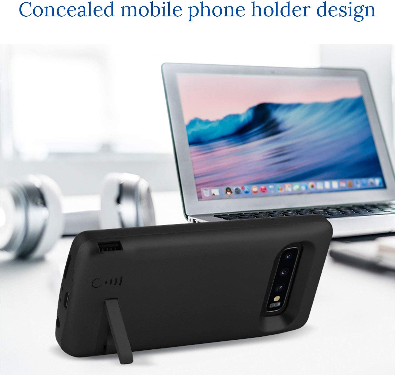Bleu 6000mAh Rechargeable Chargeur Batterie Externe Mince Power Bank Portable /Étui Batterie Chargeur Cas Protection pour Samsung HQXHB Coque Batterie pour Samsung S9 Plus,