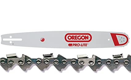 "Oregon 188SLGK095 18"" Chainsaw Bar + Oregon 21LPX072G 72 Drive Link Chainsaw Chain Loop Combo"