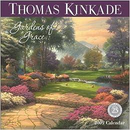 thomas kinkade gardens of grace 2009 wall calendar
