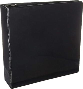12 BAZIC 3 inch Black Slant-D Ring View Binder w// 2 Pockets Pack oF