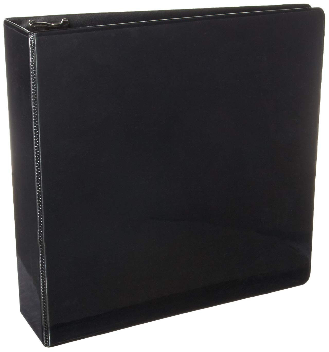 BAZIC 3'' Black Slant-D Ring View Binder w/ 2 Pockets
