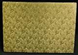Cake Board, Rectangular, Gold, 1/4'' Thick. - 17-1/2'' x 25-1/2'' (Full-Size Sheet) - Pack of 12