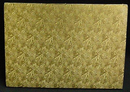 Cake Board, Rectangular, Gold, 1/2