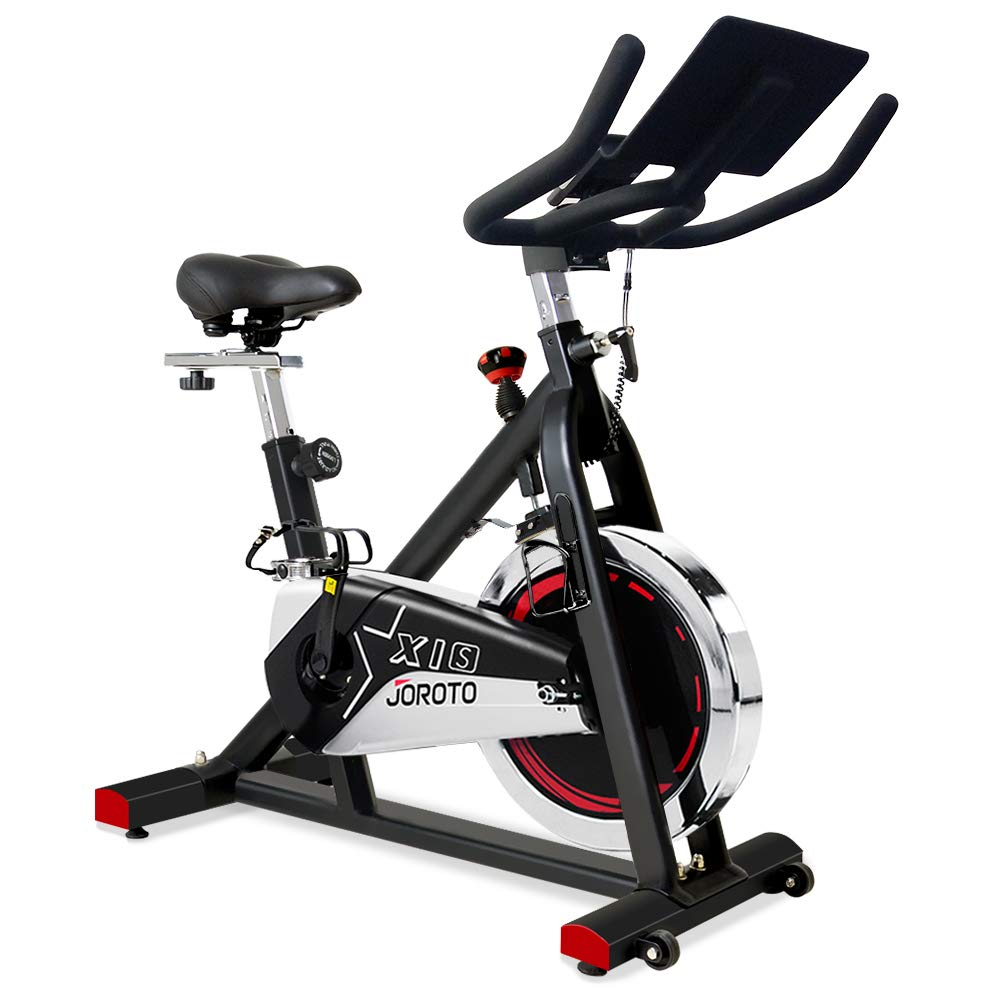 JOROTO Belt Drive Exercise Bike - Indoor Cycling Bike Stationary for Home Gym Workout