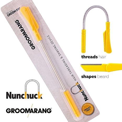 Groomarang Nunchuck La eliminación del vello facial depilación para hombres - Epistick + cuchilla de afeitar