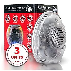 #1 Ultrasonic Pest Repeller Repels Away Rodents, Mice, Cockroaches, Ants and Spiders - Plug In Easy to Use - Best Pest Control Device for Indoor Use (3)