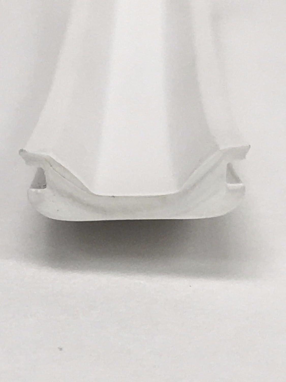 LPC RV Camper Trailer 5//8 x 50 White Vinyl UVF Insert Trim Mold Flexible Screw Cover