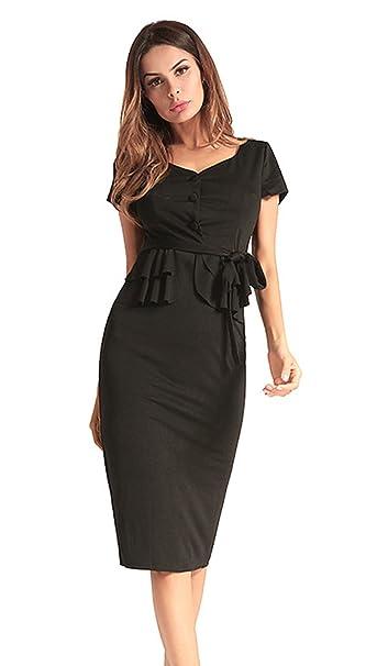 4d3a6c75ad29 La Vogue-Cocktail Lungo Vestito da Donna Causale e Formale Slim Abito a Tubo   Amazon.it  Abbigliamento