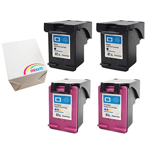 Ink Cartridge For HP 61XL Black CH563WN Deskjet 2510 2540 3000 3510 4PK Reman