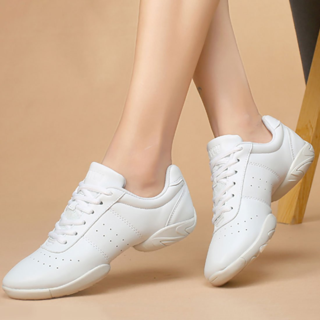 YIBLBOX Men and Womens Boost Modern Jazz Ballroom Performance Dance Sneakers Sports Shoes
