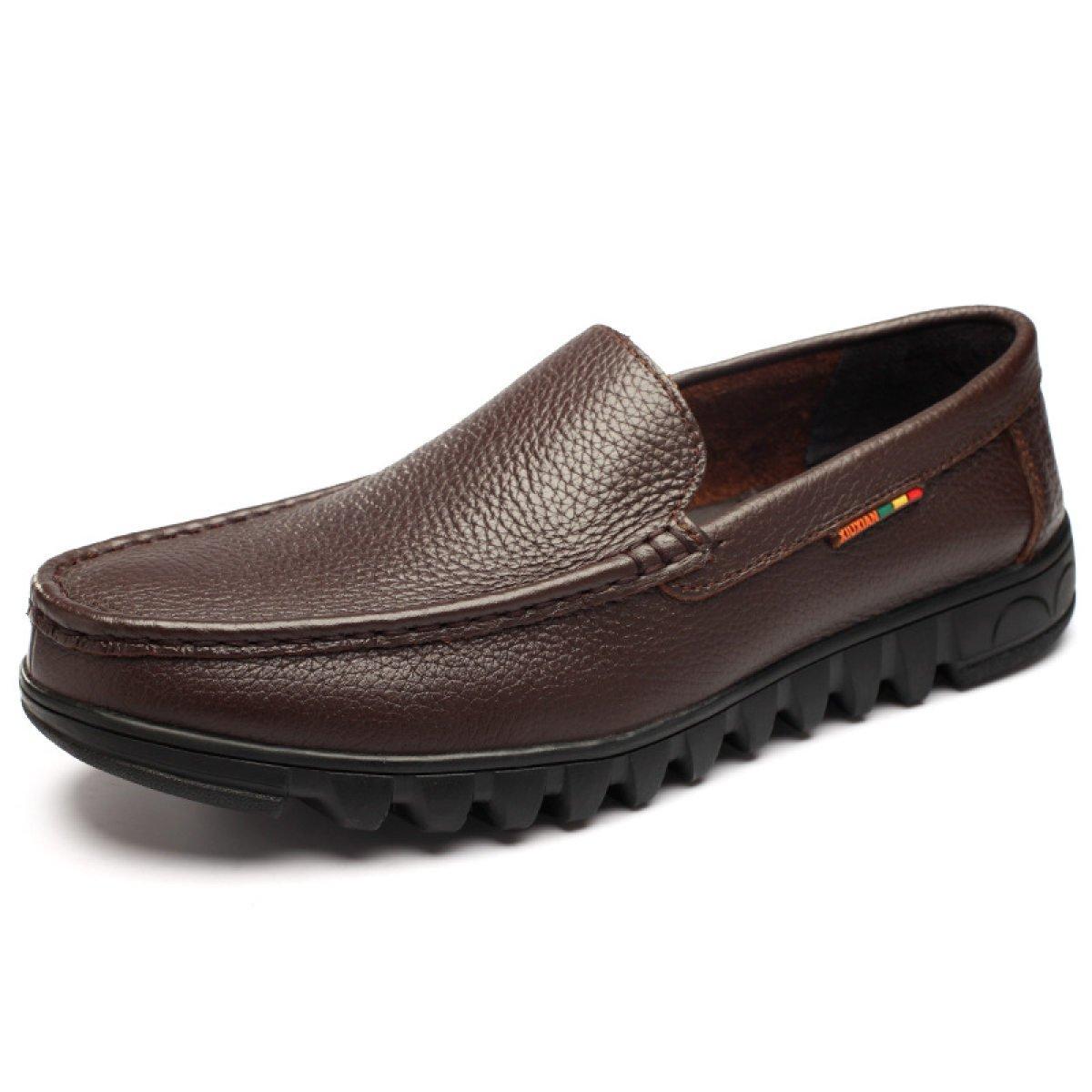 GTYMFH Männer Schuhe Warm Plus Samt Bequeme Schuhe Mittleren Alters Lässige Herrenschuhe