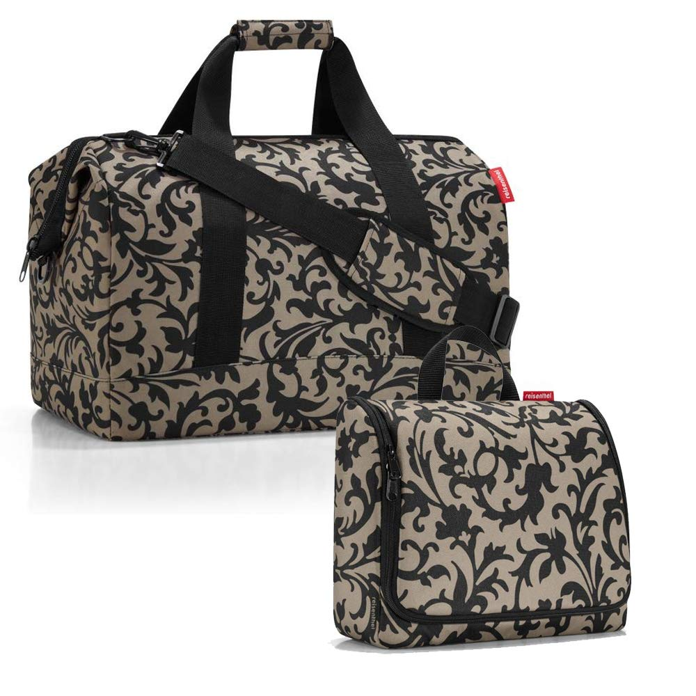 XL Reisenthel Allrounder L con borsa da toiletbag XL e a scelta con borsa da viaggio extra Marrone baroque tortora L