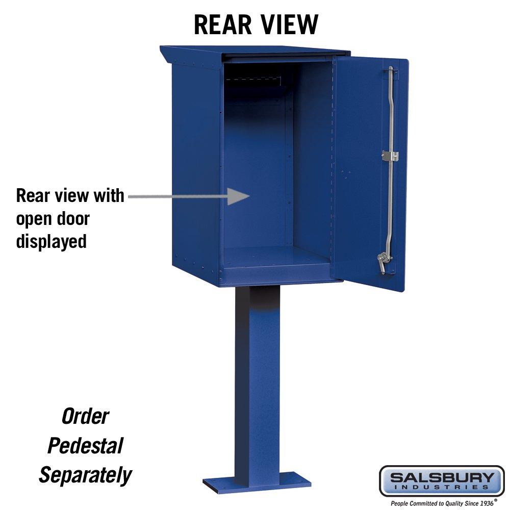 Salsbury Industries 4275BLU Pedestal Drop Box, Regular, Blue