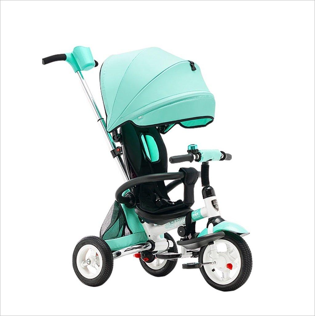 折りたたみ自転車三輪車の自転車ベビートロリーの子供の自転車のベビーカー (色 : 緑) B07DVJTX44緑