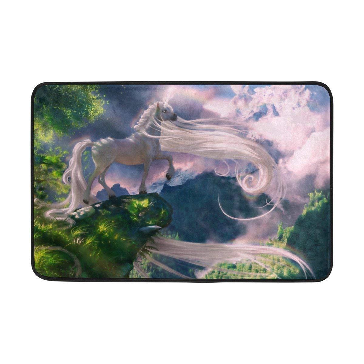 538 23.6x15.7,L x W LINGVYTE Carpet Rainbow Unicorn Doormat Entrance Mat Floor Mat Rug Indoor/Bathroom Mats Non Slip