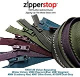 ZipperStop Wholesale YKK - Fashion Trends Zippers 36 Inch Sport YKK #5 Vislon Jacket Zipper (5 Assorted Colors) Medium Weight Molded Plastic - Separating (Winter)