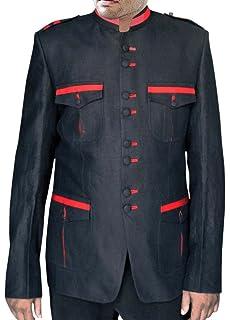 INMONARCH Mens Black Nehru Jacket Designer Work NJ0164