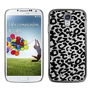 TopCaseStore / la caja del caucho duro de la cubierta de protección de la piel - Gray Leopard Cheetah Pattern - Samsung Galaxy S4 I9500