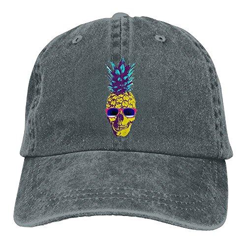 Summer Pineapple Skulls With Sunglasses Denim Adjustable Baseball Caps For Mens Womens Best Hip Hop Trucker Hats - Army Indian Sunglasses