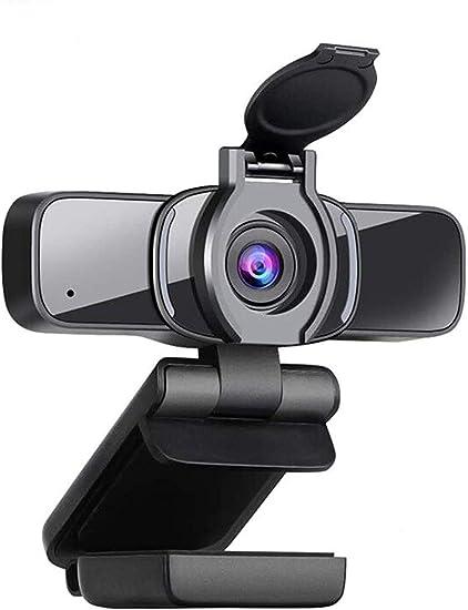 LarmTek - Cámara web HD 1080p con obturador de privacidad, cámara web para ordenador portátil, con micrófono, videollamadas panorámicas y soporte de grabación para conferencias, W3, Reino Unido: Amazon.es: Electrónica
