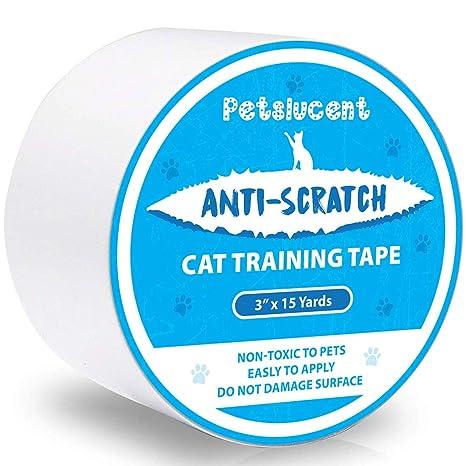 Petslucent Cinta Adhesiva disuasiva antiarañazos del Gato, Cinta Protectora de los Muebles del Gato Anti-rasguño, Guardias de Doble Cara para la ...
