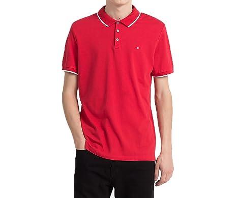 Calvin Klein Polo Jeans Paul Rojo XXL Rojo: Amazon.es: Ropa y ...