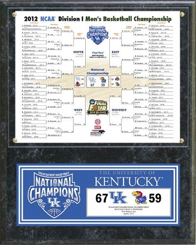 Kentucky Wildcats 2012 Championship (Basketball Championship Plaque)