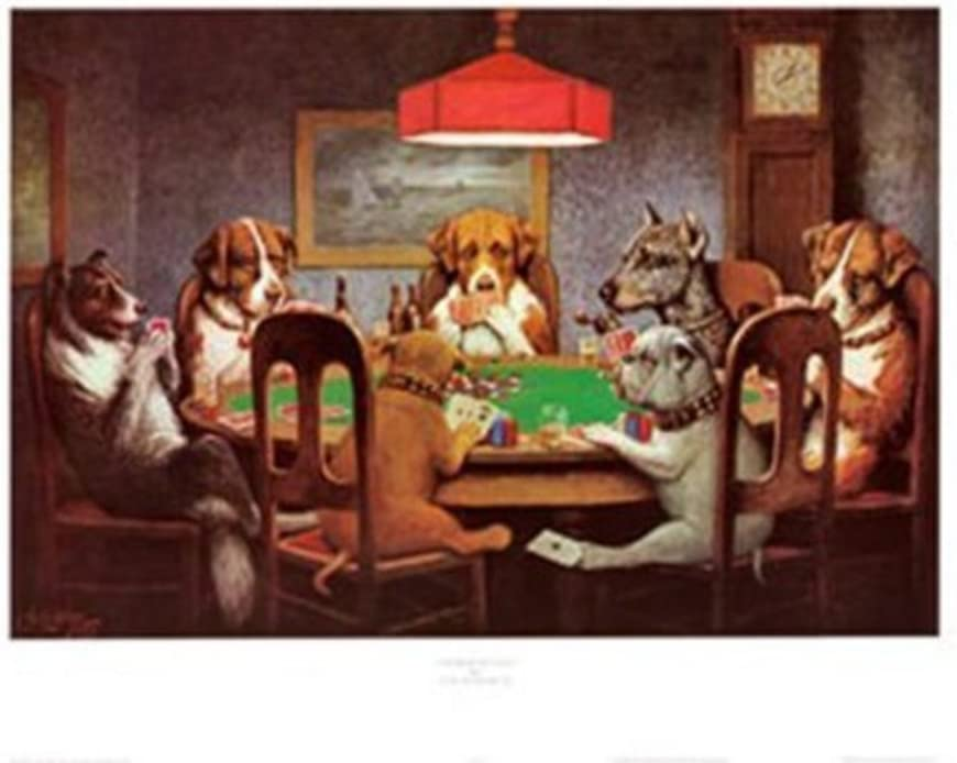 Dogs Playing Poker at Table #1 A Friend In Need Wall Picture 8x10 Art Print