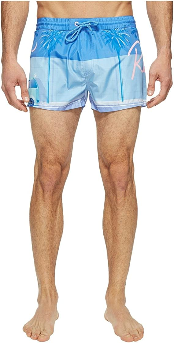 Diesel Men's Sandy Yoko Honda Printed 12 Inch Short Swim Trunk