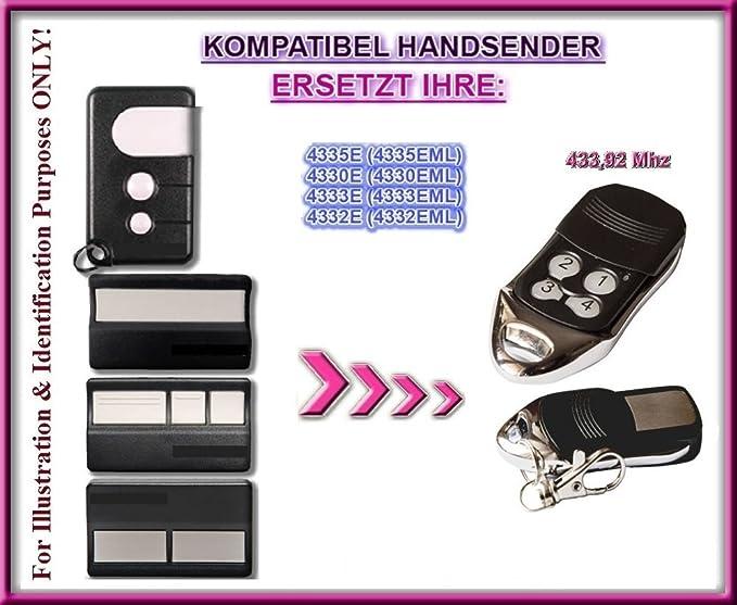 4335E Handsender 4332E Replacement Transmitter 433.92MHZ Rolling ...