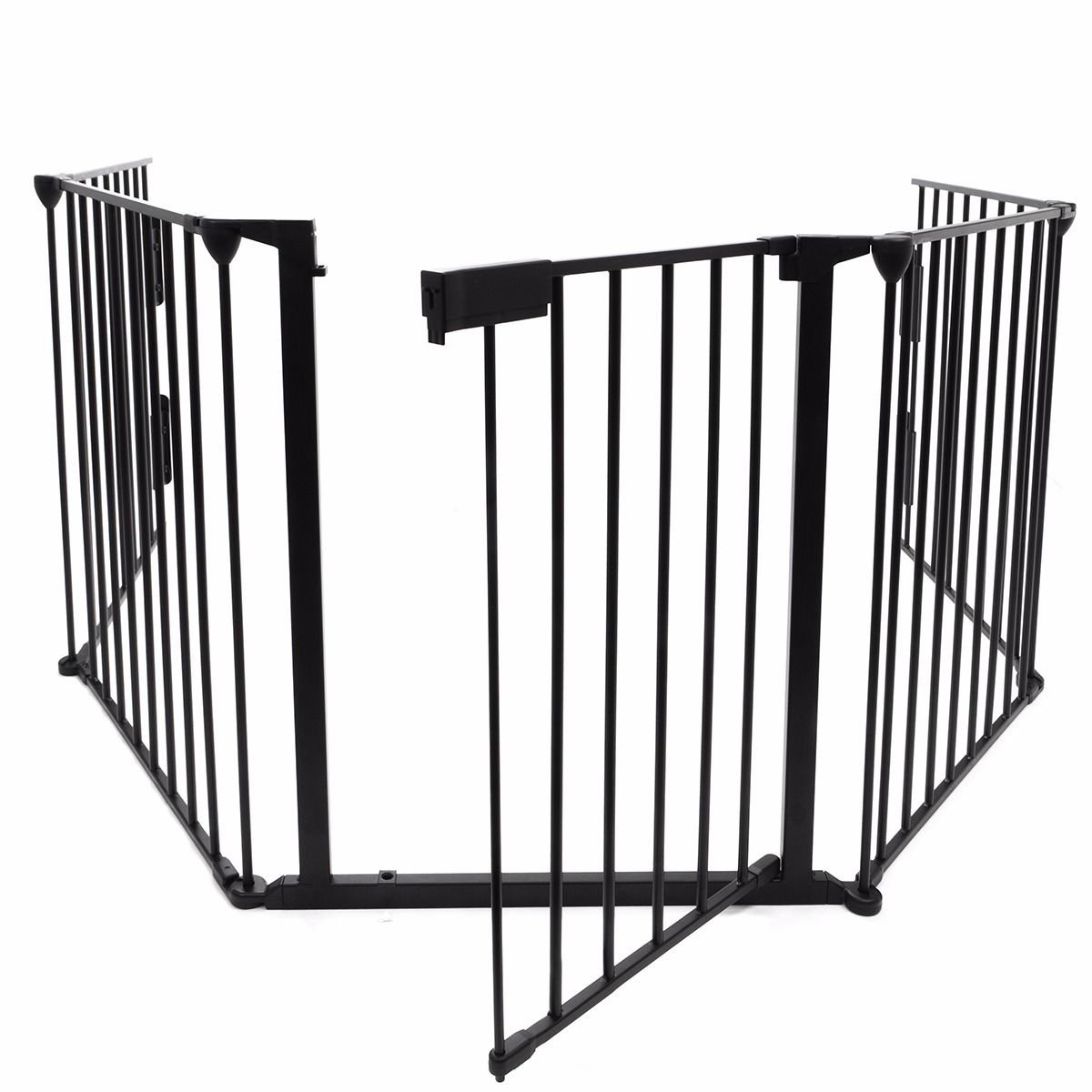 come on style shop Fireplace fence with door and handle baby safety pet dog gate barrier enclose home size 25''x30''