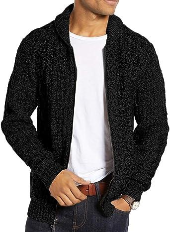 Runcati Mens Casual Cardigan Sweater