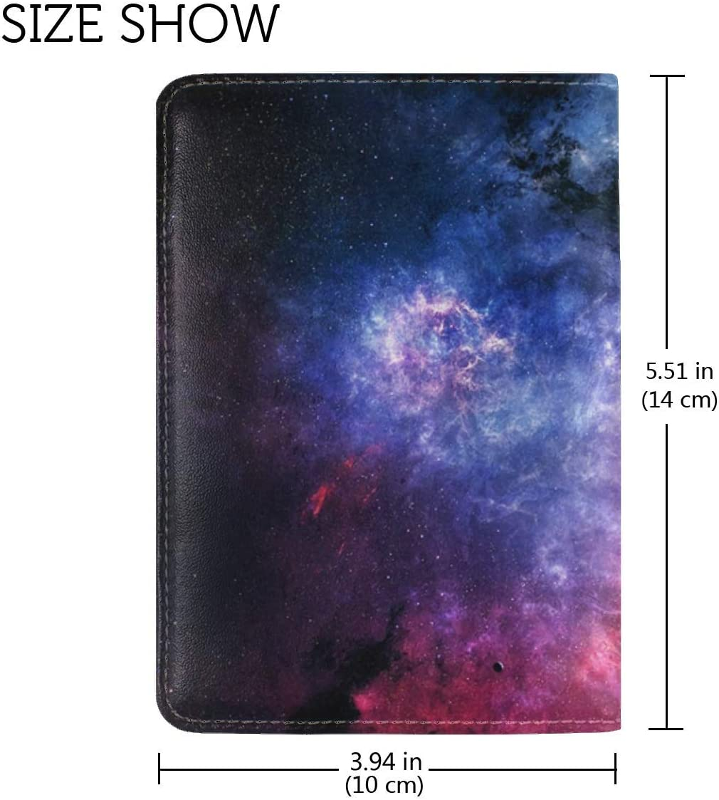 JiaoL Space Starry Sky Universe Leather Passport Holder Cover Case Travel One Pocket