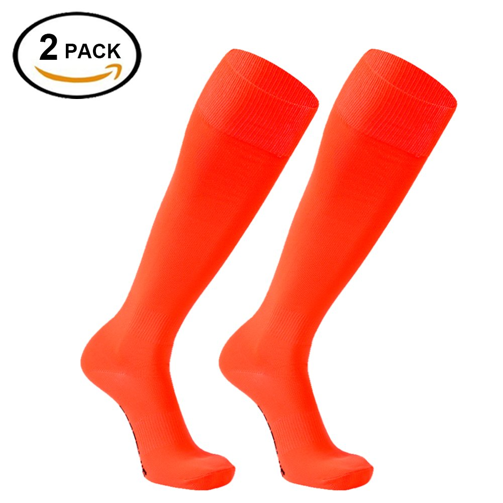 FOOTPLUS SOCKSHOSIERY ボーイズ B077NYVM9J M|2 Pairs-fluorescent Orange 2 Pairs-fluorescent Orange M