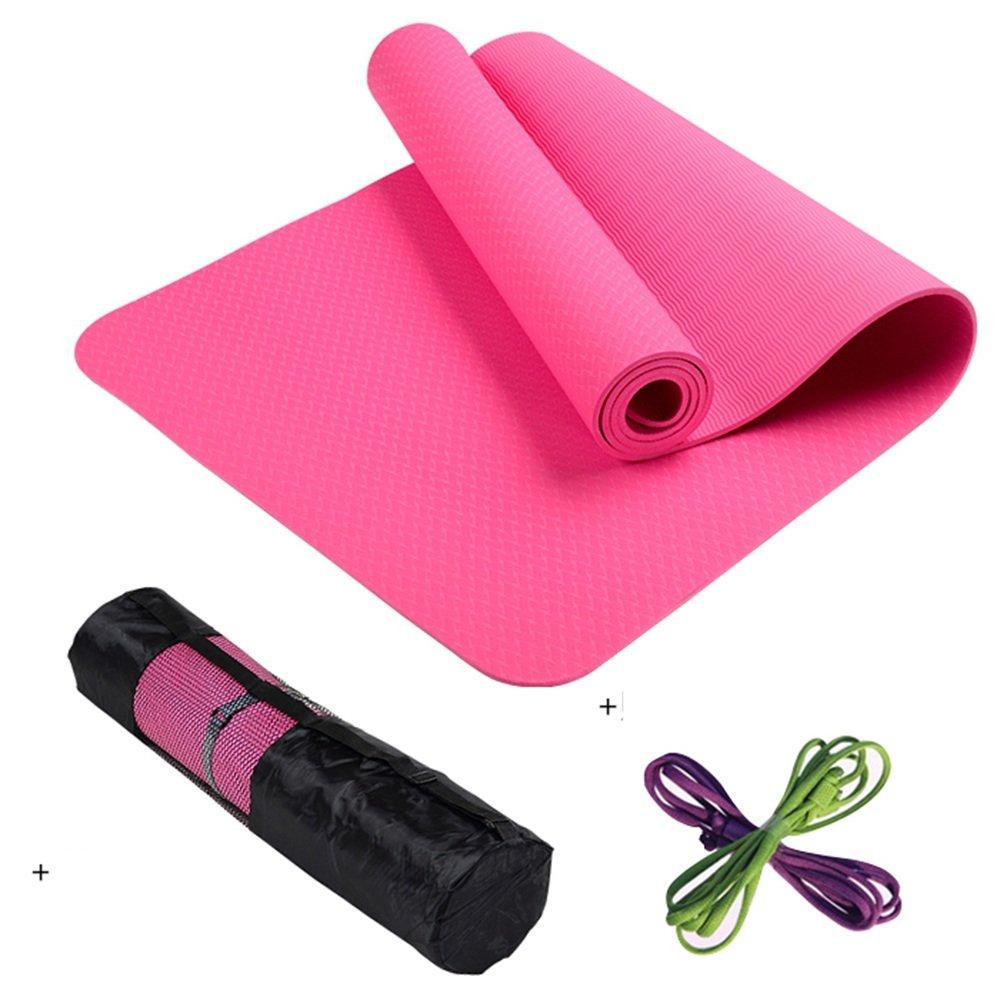 F Caoyu Sports et Fitness Tapis de Yoga Professionnel Anti-dérapant Tapis de Yoga allongé Tapis de Fitness Sportif Tapis couché 6mm