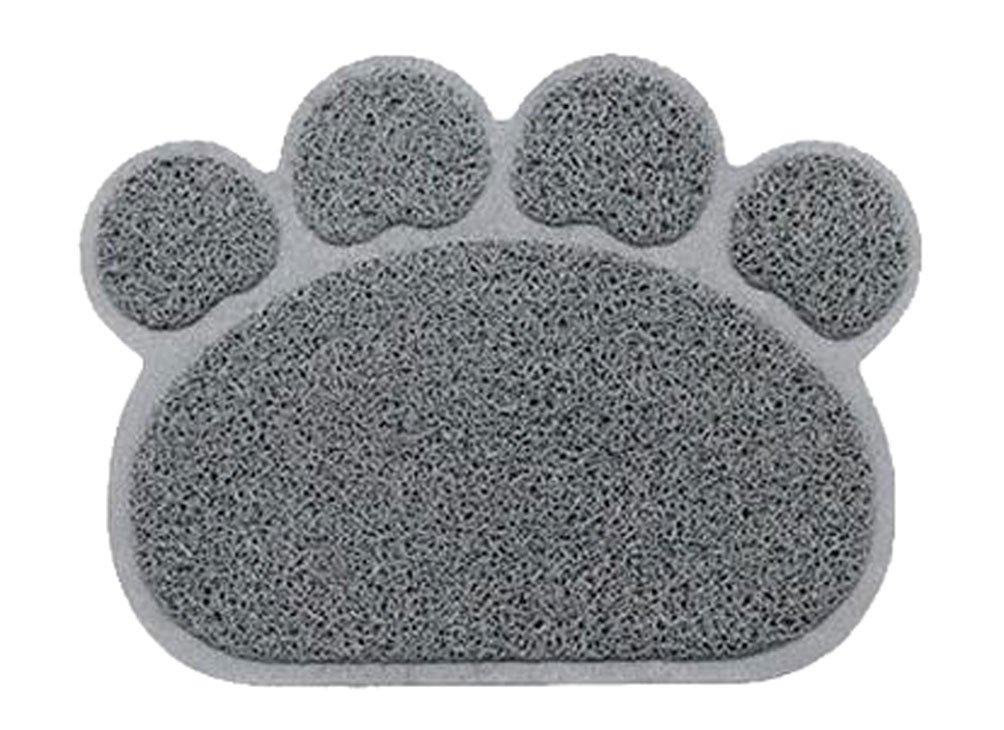 OUUD Cute Paw Shape Waterproof Non-slip Pet Food Feeding Mat Bowl Place Mat f...