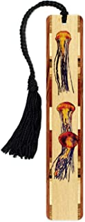 product image for Jellyfish Colorful Wooden Bookmark with Tassel